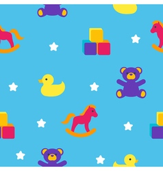 Seamless pattern with childrens toys vector image