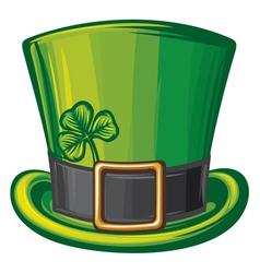 St Patrick green hat vector image