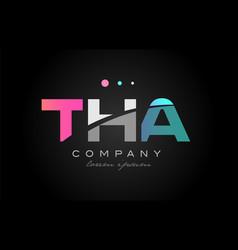 Tha t h a three letter logo icon design vector