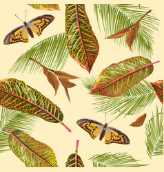 tropial leaves pattern vector image