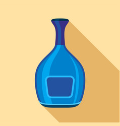 blue wide bottle icon flat style vector image vector image