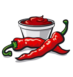 chilly peppers vector image vector image
