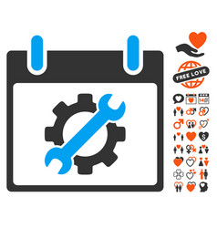 configuration tools calendar day icon with vector image vector image