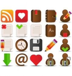 internet and blogger icons vector image vector image