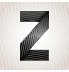 Letter metal ribbon - Z vector image vector image