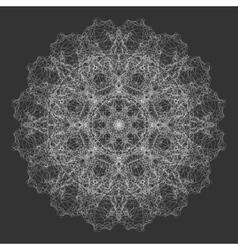 Mandala Flower Round Oriental Ornament Design vector image vector image