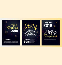 realistic posters for a christmas party vector image
