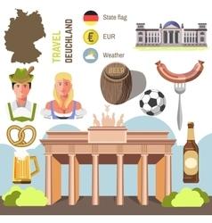 Travel Concept Germany Landmark Flat Icons Design vector image vector image