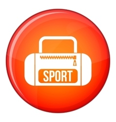 Sports bag icon flat style vector image