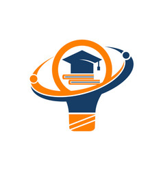 student solution logo design template vector image