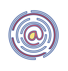at symbol of web addres to internet connection vector image