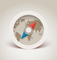Compass retro design vector image