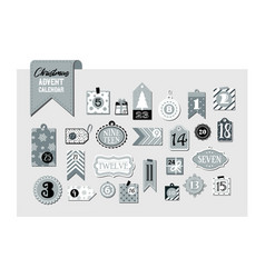 abstract printable tags collection for christmas vector image