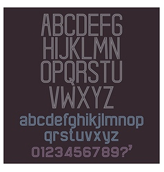 Alphabet retro set vector