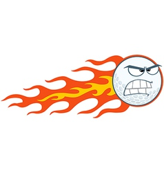 Angry Flaming Golf Ball vector image