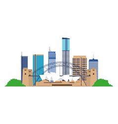 Australia landmark architecture vector