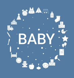 baby icon set infographic template vector image