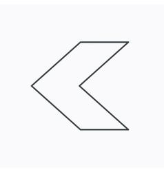 Back arrow icon Previous sign vector image