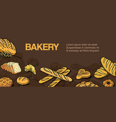 bakery and bread shop sketch vector image