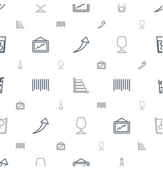 Bar icons pattern seamless white background vector