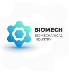 Biomechanical business logo vector