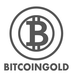 Bitcoin gold sign icon for internet money vector