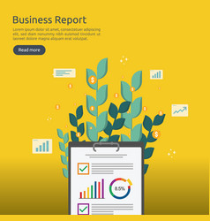 business analyst or financial research report vector image