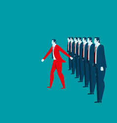 Businessman leadership vector