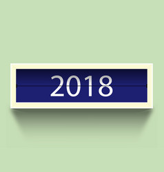 calendar 2018 countdown timer 2018 year and with vector image