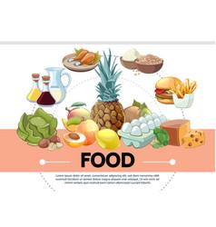 cartoon food template vector image