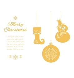 Christmas pendants a snowman in hat and scarf vector