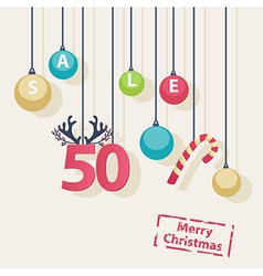 Christmas Sale shop poster design vector image vector image