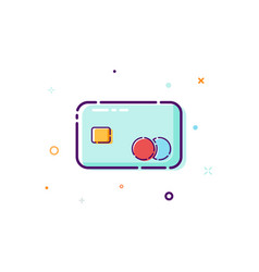 concept credit cart icon thin line flat design vector image