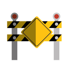 construction barrier isolated icon vector image