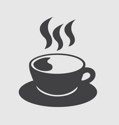 cup of coffee hot icon vector image
