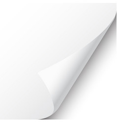 Curled page corner with shadow on white background vector