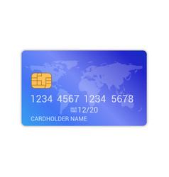 Debit credit card bank design template realistic vector