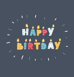 different color birthday candles vector image
