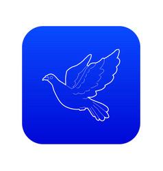 Dove icon blue vector