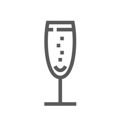 Drink and beverage line icon vector