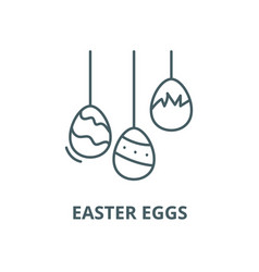 easter eggs line icon linear concept vector image
