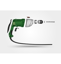 electric drill in details vector image