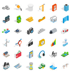 flash drive icons set isometric style vector image