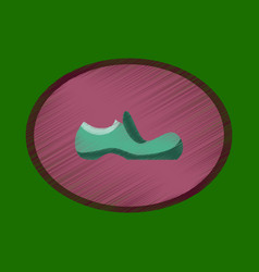 Flat shading style icon footwear shoe vector