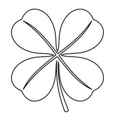 Four leaf clover leaf icon outline style vector