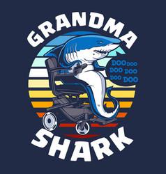 Grandma shark vector