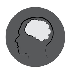 Gray Mind Icon Isolated On White Background vector image