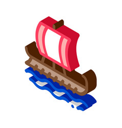 greek merchant ship isometric icon vector image