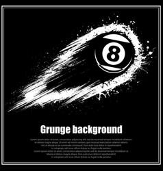 Grunge black billiards background vector