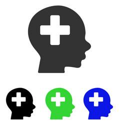 Head medicine flat icon vector